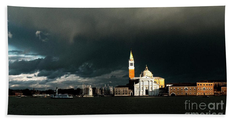 Venice Bath Sheet featuring the photograph Venice Island Saint Giorgio Maggiore by Heiko Koehrer-Wagner