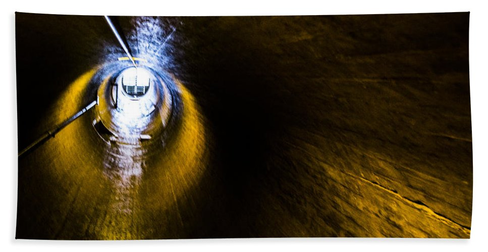 Nevada Hand Towel featuring the photograph Ventilation Tunnel 2 by Angus Hooper Iii
