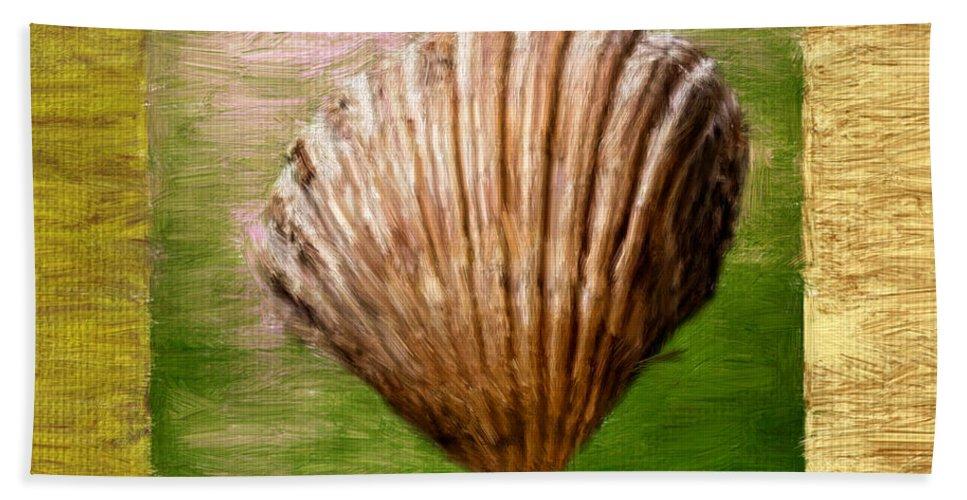 Green Bath Sheet featuring the digital art Verde Beach by Lourry Legarde