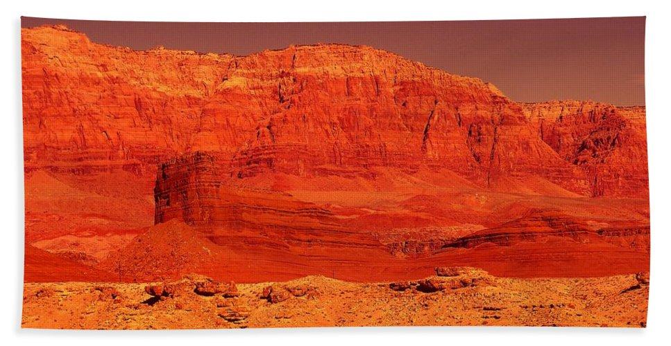 Cliffs Bath Sheet featuring the photograph Vermilion Cliffs by Jeff Swan