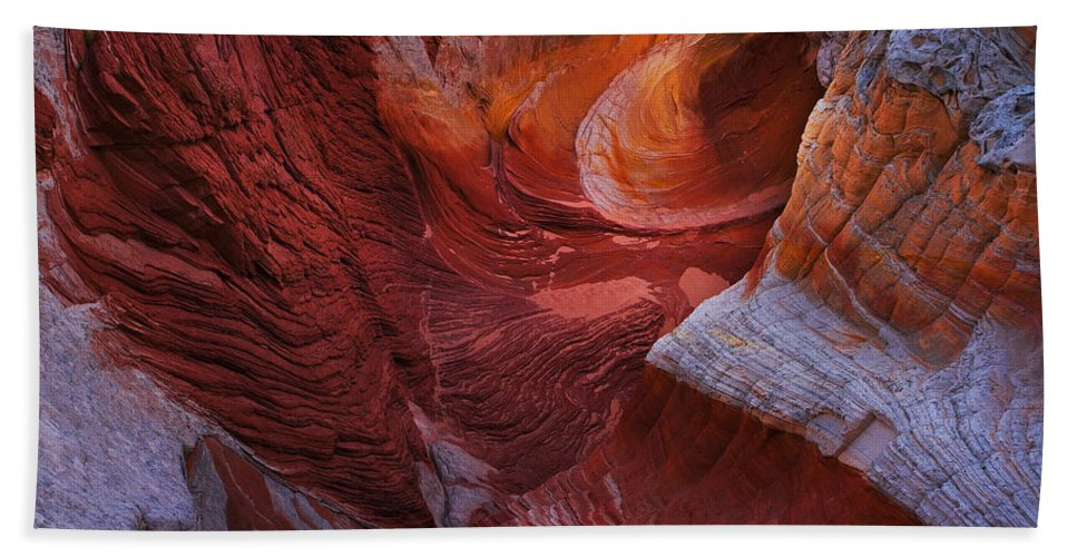 White Pocket Bath Sheet featuring the photograph Vermilion Eye by Peter Coskun