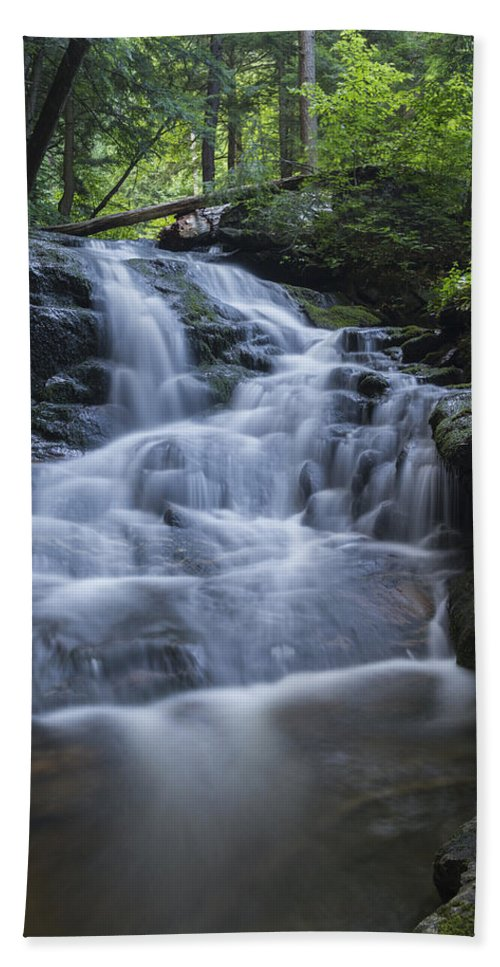 Vermont Bath Sheet featuring the photograph Vermont New England Waterfall Green Trees Forest by Andy Gimino