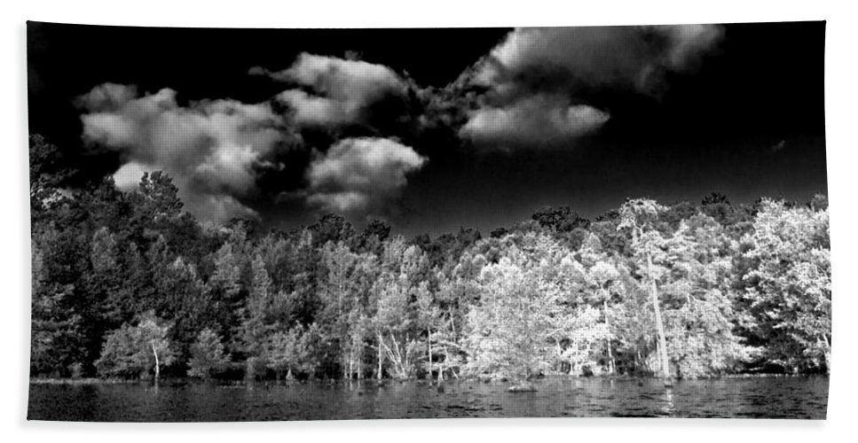 Vernon Lake Hand Towel featuring the photograph Vernon Lake One by Ken Frischkorn
