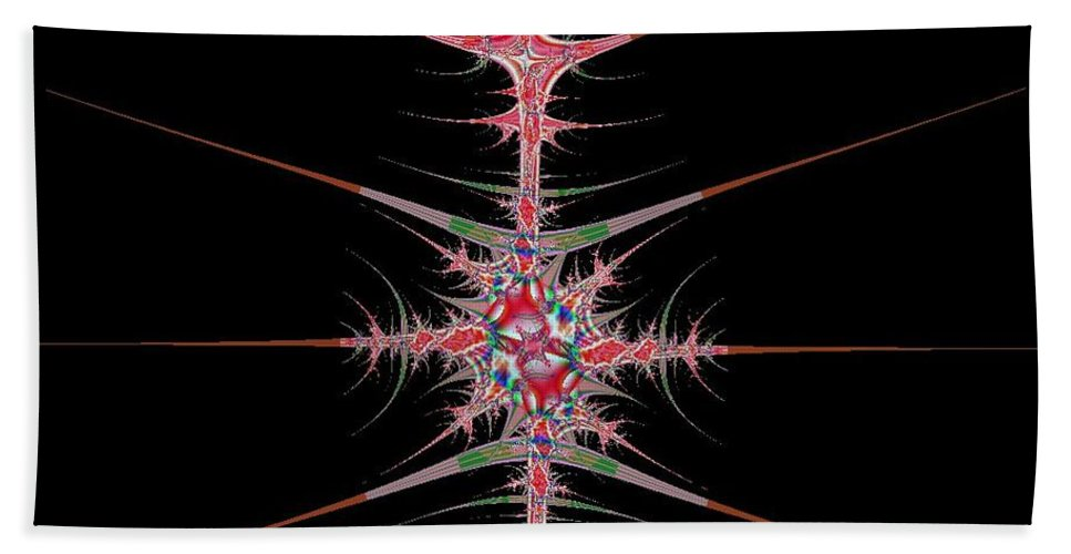 Digital Art Bath Sheet featuring the digital art Vertebrae by Dragica Micki Fortuna