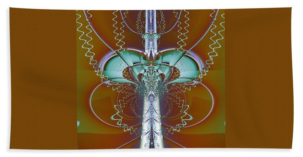 Digital Art Bath Sheet featuring the digital art Vertebrae I by Dragica Micki Fortuna