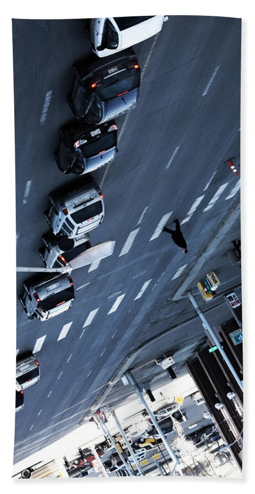 Street Photography Hand Towel featuring the photograph Vertigos Volley by The Artist Project