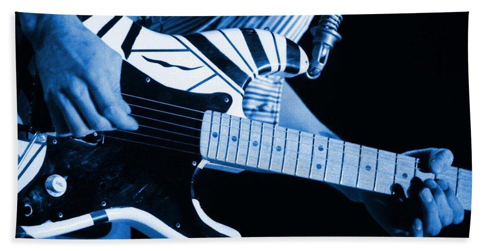 Van Halen Hand Towel featuring the photograph Vh #3 In Blue by Ben Upham