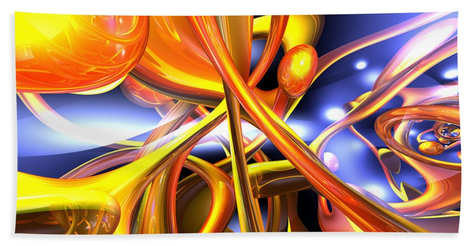 3d Hand Towel featuring the digital art Vibrant Love Abstract by Alexander Butler