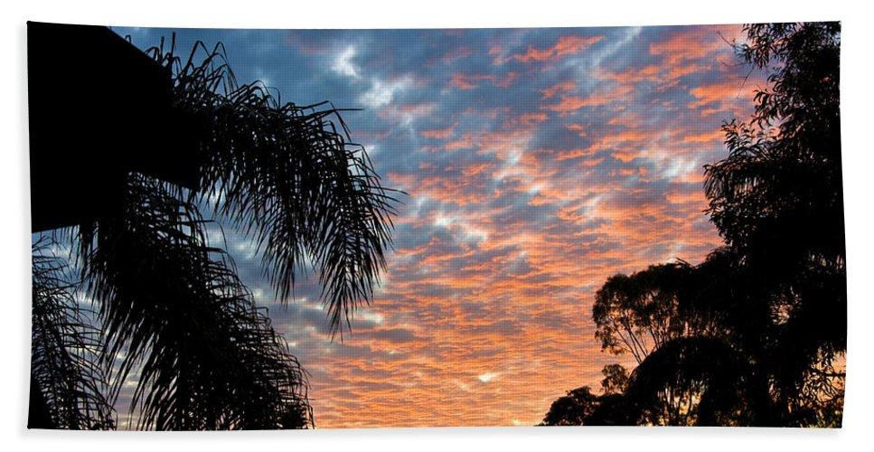 Sun Bath Sheet featuring the photograph Vibrant Winter Sunset by Darren Burton
