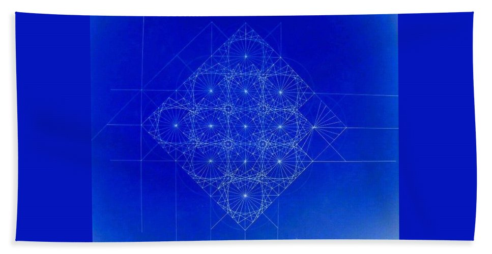 Sine Bath Sheet featuring the drawing Vibrating Space Time by Jason Padgett
