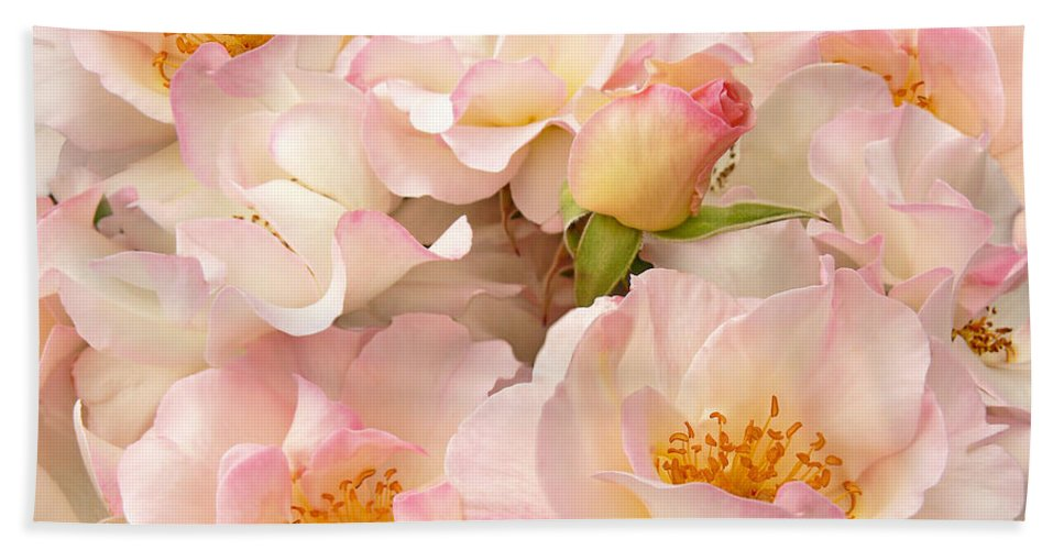 Rose Bath Sheet featuring the photograph Victorian Pink Roses Bouquet by Jennie Marie Schell
