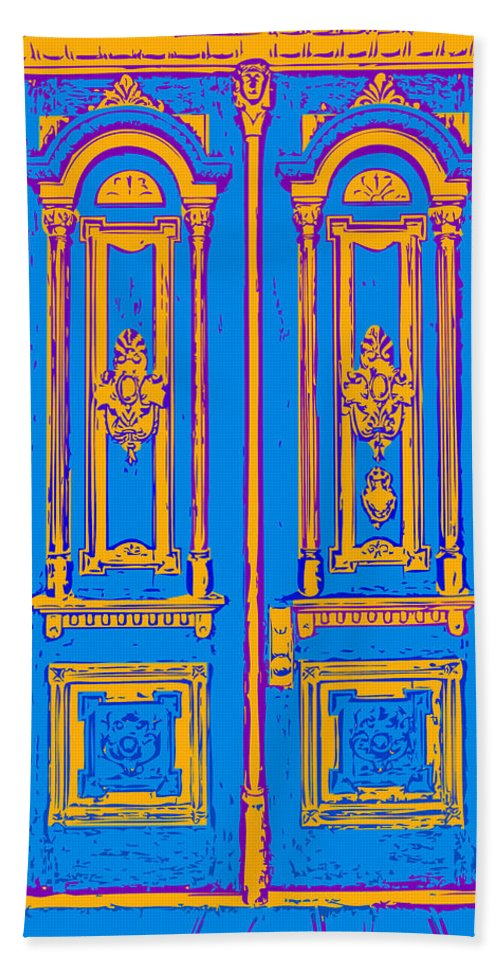Victorian Bath Sheet featuring the digital art Victoriandoorpopart by Greg Joens