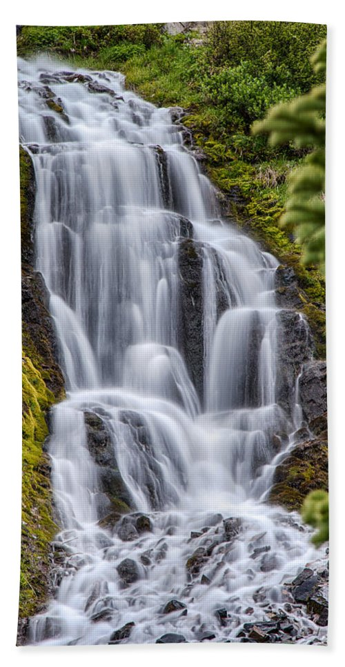 Or Hand Towel featuring the photograph Vidae Falls by Jayme Spoolstra