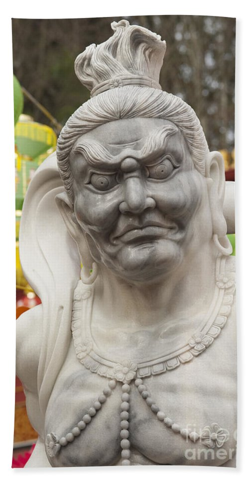 Buddha Bath Sheet featuring the photograph Vietnamese Temple Statue by Jim Corwin