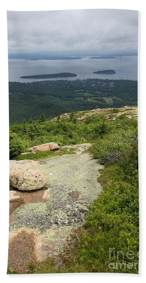 Acadia Park Bath Sheet featuring the photograph View From Cadillac Mountain - Acadia Park by Christiane Schulze Art And Photography