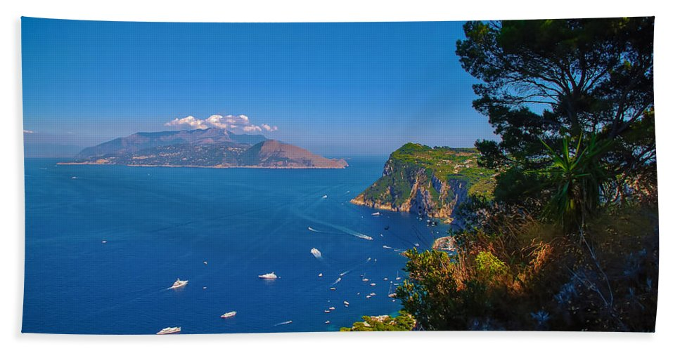 Beach Bath Sheet featuring the photograph View From Capri by Dany Lison