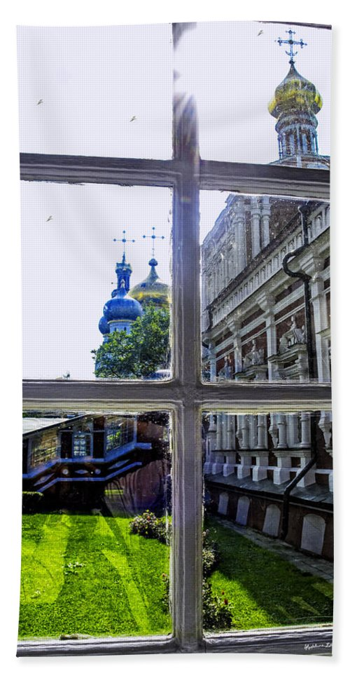 Window Bath Sheet featuring the photograph View From The Novodevichy Convent - Russia by Madeline Ellis