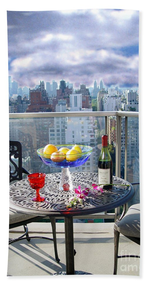 Terrace Bath Sheet featuring the photograph View From The Terrace by Madeline Ellis