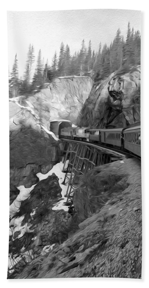 Yukon Railroad Hand Towel featuring the photograph View From The Train by Tracy Winter