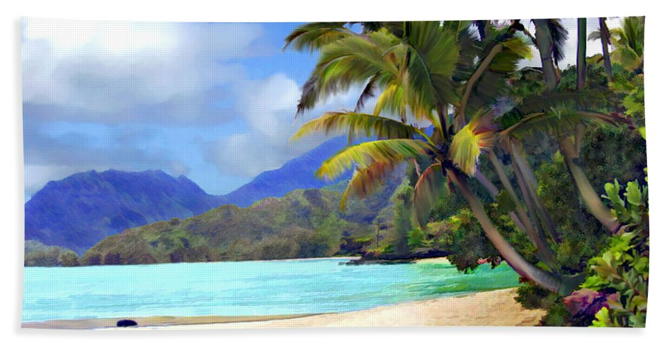 Hawaii Hand Towel featuring the photograph View From Waicocos by Kurt Van Wagner