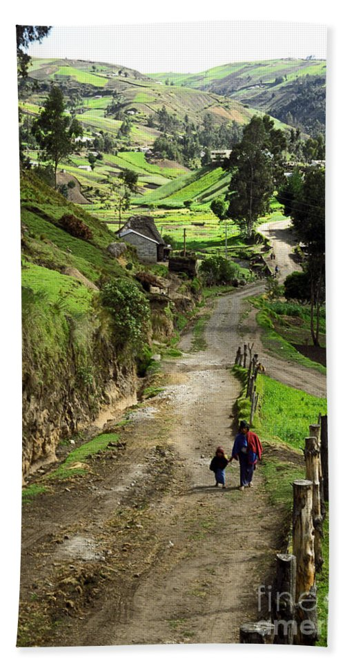 Ecuador Hand Towel featuring the photograph View Of Lupaxi by Kathy McClure
