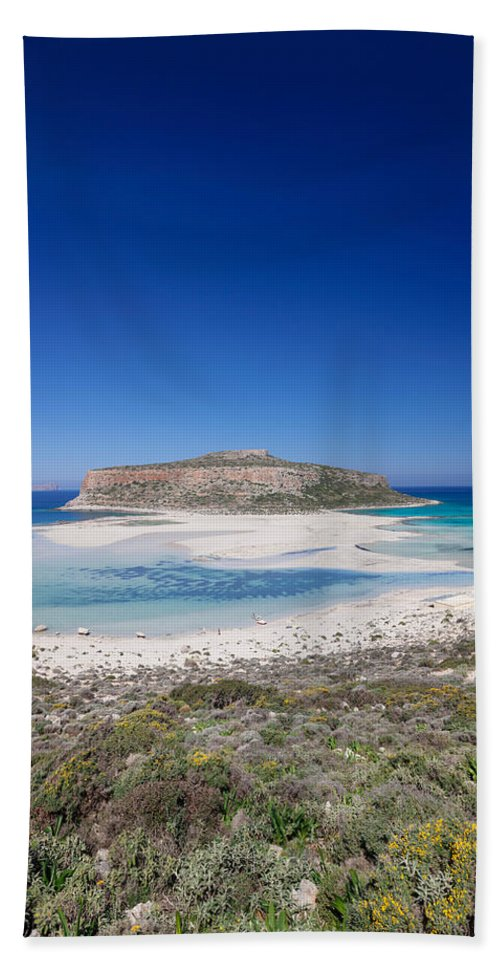 Photography Hand Towel featuring the photograph View Of The Balos Beach, Gramvousa by Panoramic Images