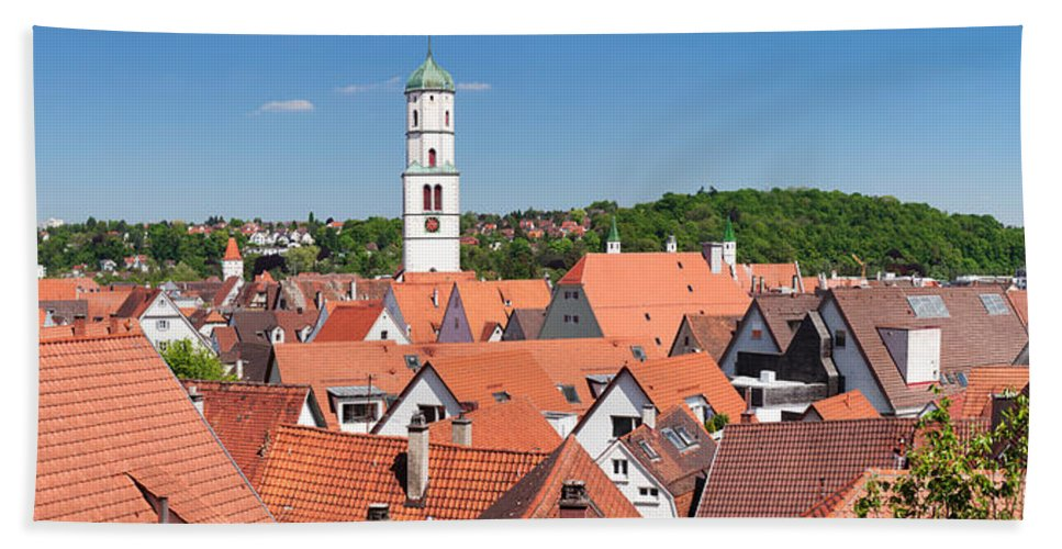 Photography Hand Towel featuring the photograph View Of The Old Town With St. Martins by Panoramic Images