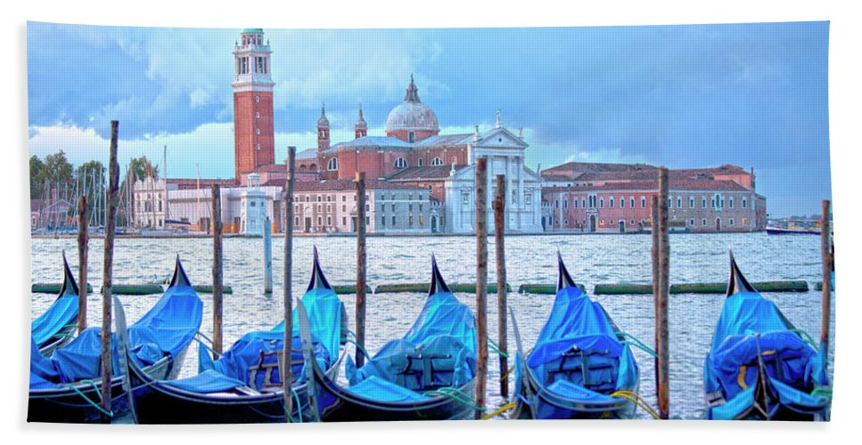 Venice Bath Sheet featuring the photograph View To San Giorgio Maggiore by Heiko Koehrer-Wagner