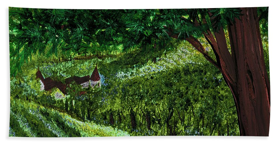 First Star Art Bath Sheet featuring the painting Villa By Jrr by First Star Art