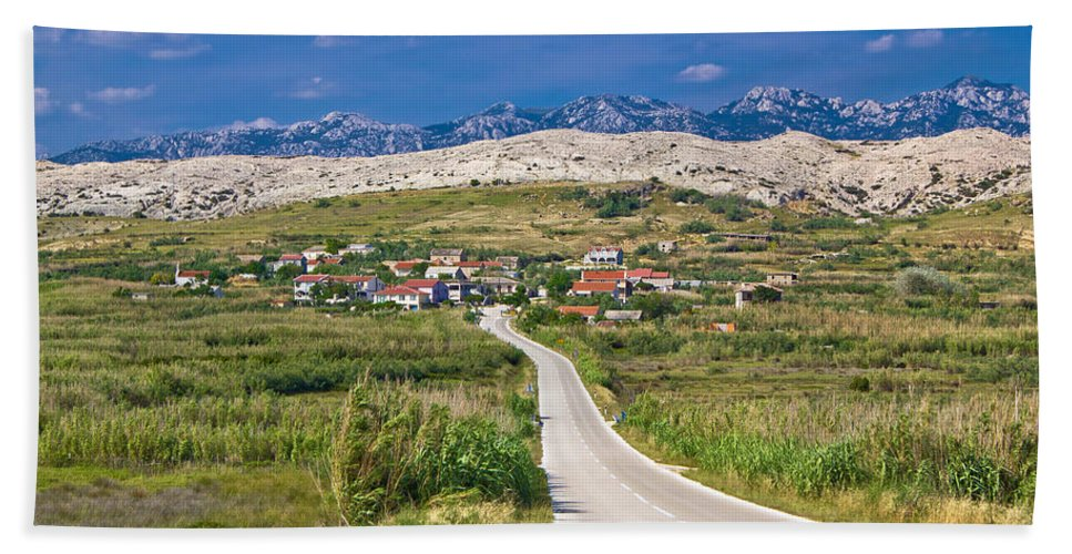 Croatia Hand Towel featuring the photograph Village Gorica Island Of Pag by Brch Photography