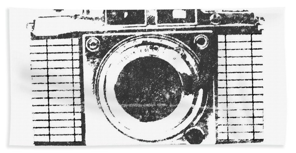 Camera Hand Towel featuring the photograph Vintage Camera by Martin Newman