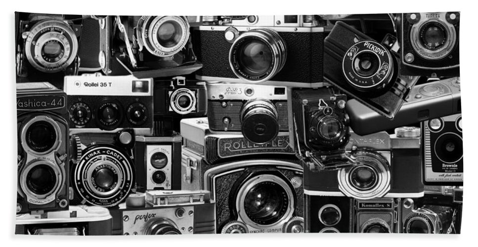 Cameras Hand Towel featuring the photograph Vintage Camera Montage by Andrew Fare