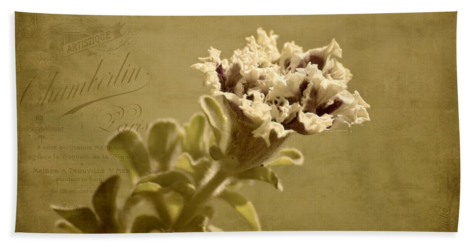 Petunias Bath Sheet featuring the photograph Vintage Double Petunia by Mel Hensley
