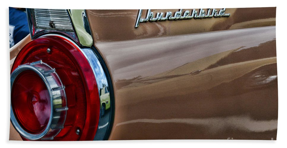 Paul Ward Hand Towel featuring the photograph Vintage Ford Thunderbird by Paul Ward
