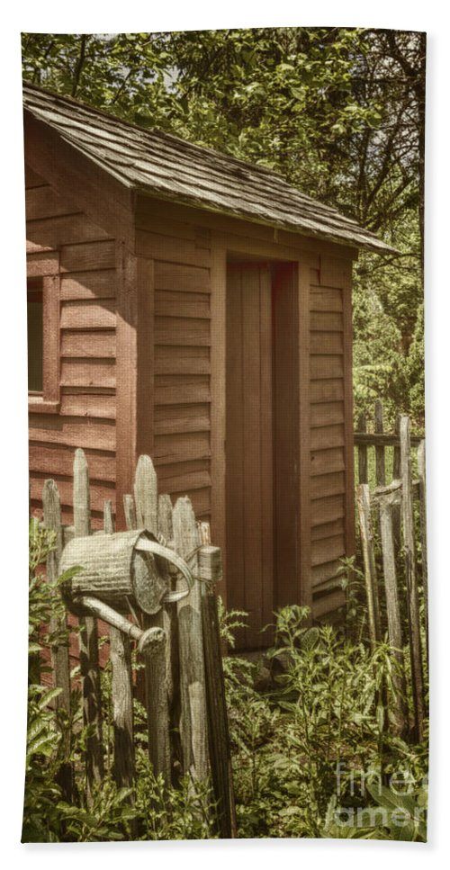 Shed Hand Towel featuring the photograph Vintage Garden by Margie Hurwich