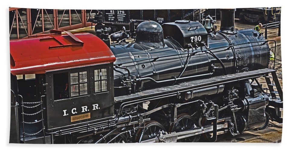 Historic Hand Towel featuring the photograph Vintage I C R R No. 790 by Gary Keesler