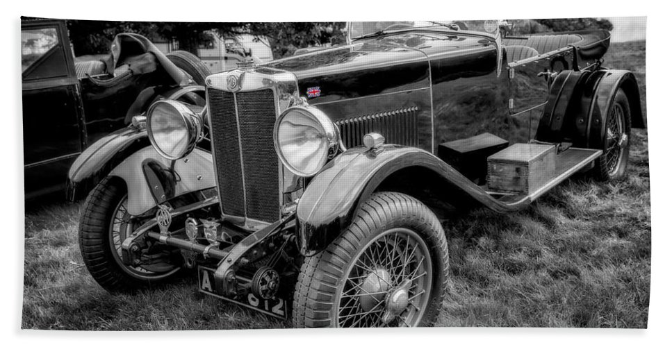 Mg Bath Sheet featuring the photograph Vintage Mg by Adrian Evans