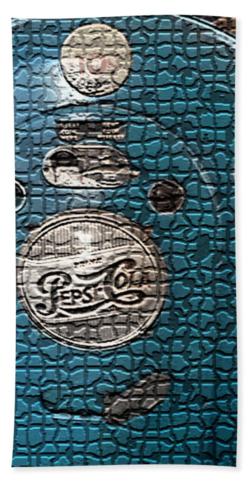 Vintage Pepsi Machine Hand Towel featuring the digital art Vintage Pepsi Machine by Marvin Blaine