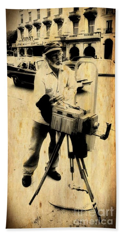 Photographer Hand Towel featuring the photograph Vintage Photographer Tintype by John Malone Halifax Photographer