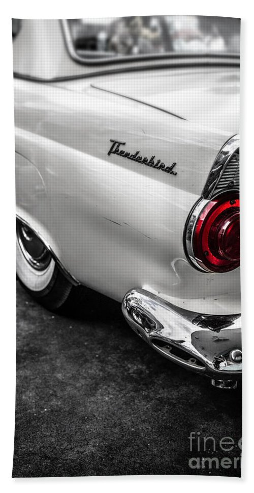 Car Hand Towel featuring the photograph Vintage Ford Thunderbird by Edward Fielding