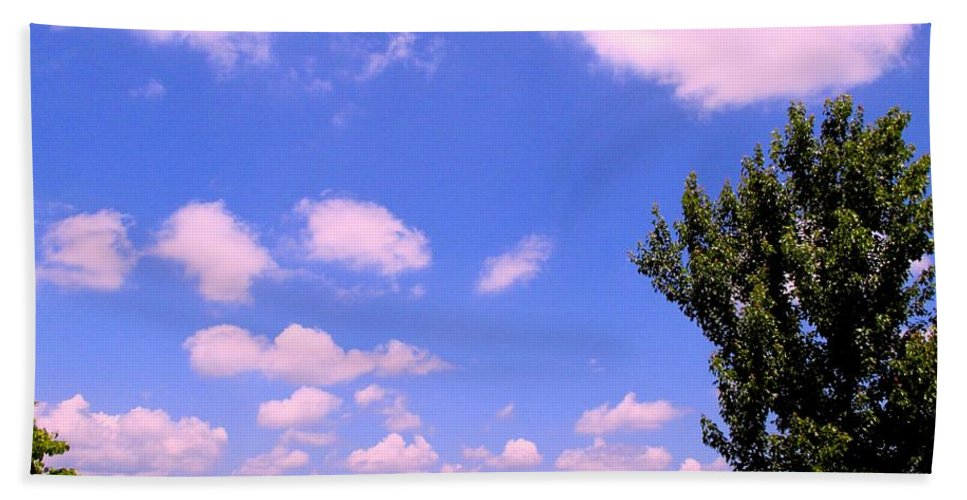 Clouds Bath Towel featuring the photograph Violet Edge by Kendall Kessler