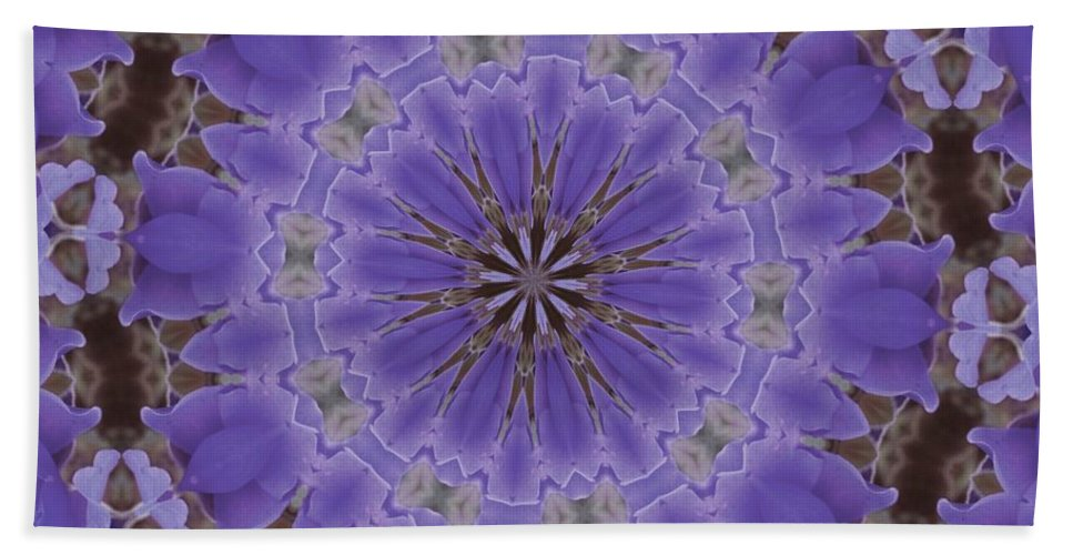 Kaleidoscope Hand Towel featuring the photograph Violet Garden by Lena Photo Art