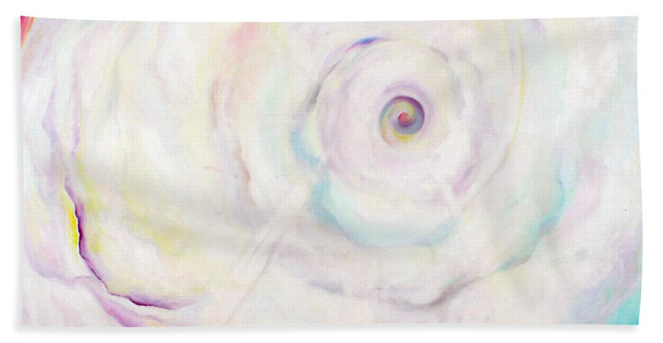 Clouds Bath Sheet featuring the painting Virgin Matter by Anne Cameron Cutri