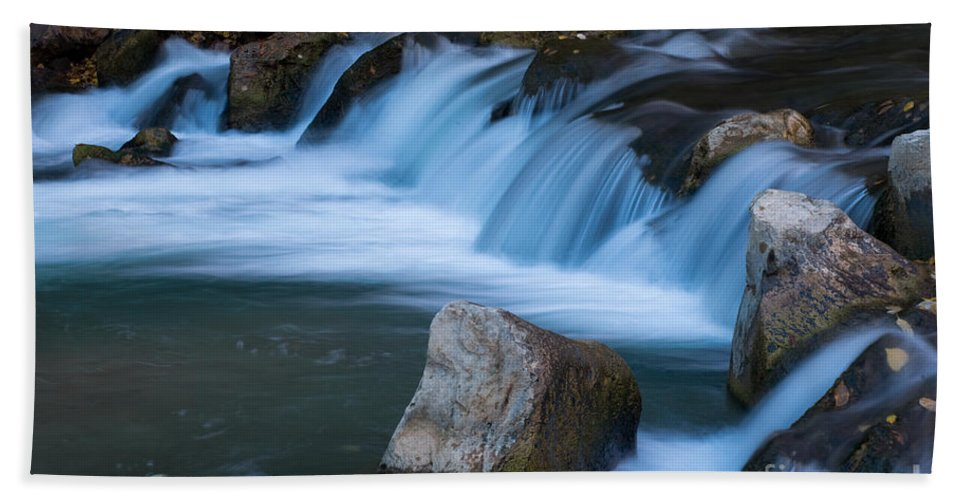 Afternoon Bath Sheet featuring the photograph Virgin River Rapids by Fred Stearns
