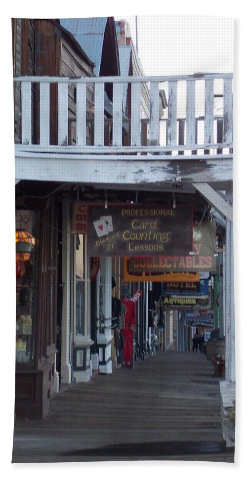 Hand Towel featuring the photograph Virginia City Sidewalk by Brent Dolliver