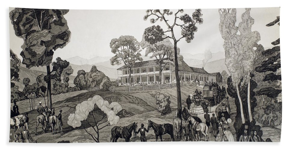 1850 Bath Sheet featuring the photograph Virginia: Crows Tavern by Granger