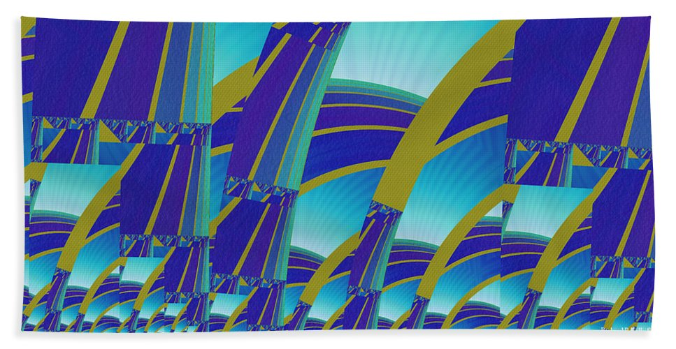 Fractal Bath Sheet featuring the digital art Vision Of Superimposed Continuation by Richard Kelly