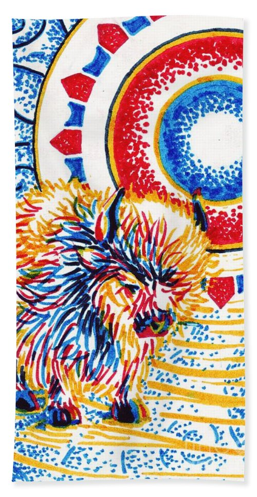 Vision Bath Sheet featuring the painting Vision Quest by Samantha Geernaert