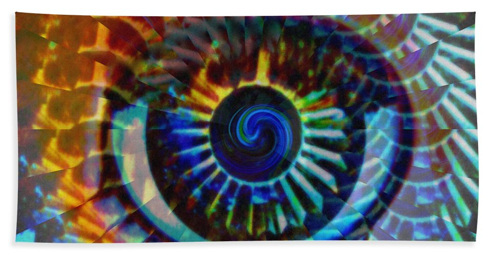 Abstract Hand Towel featuring the photograph Visionary by Gwyn Newcombe