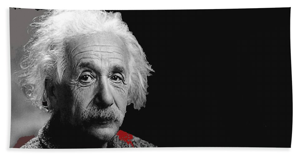 Visionary Physicist Albert Einstein No Date Hand Towel featuring the photograph Visionary Physicist Albert Einstein No Date-2008 by David Lee Guss